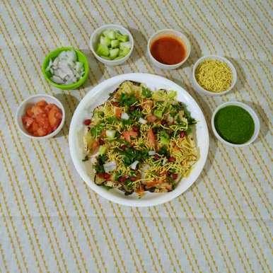 Photo of Khichiya Papad ( Rice Papad ) Chat by Purvi Modi at BetterButter