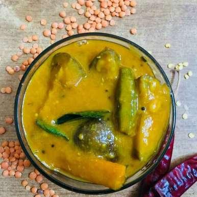 Photo of Onion, brinjal, and bhindi sambar by Pushpa kannan at BetterButter