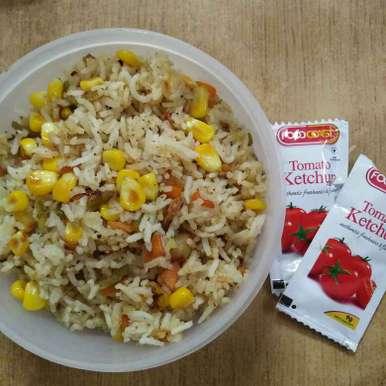 Photo of American corn fried rice by Pushpa kannan at BetterButter