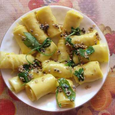 Photo of Khandvi by R.Anandi Anand at BetterButter