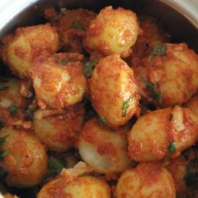 Photo of Bhungda bateka (finger fryums with baby potatoes) by Rachana Bhatia at BetterButter