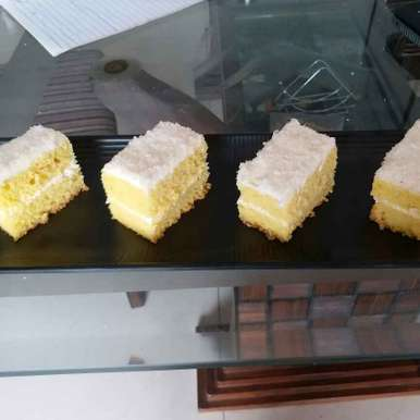 Photo of Lemon and mint Lamington by Rajni Gupta Anand at BetterButter