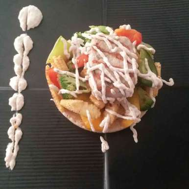 Photo of Pan fried cous cous with grilled veggies and tahini mayo by Rajni Gupta Anand at BetterButter