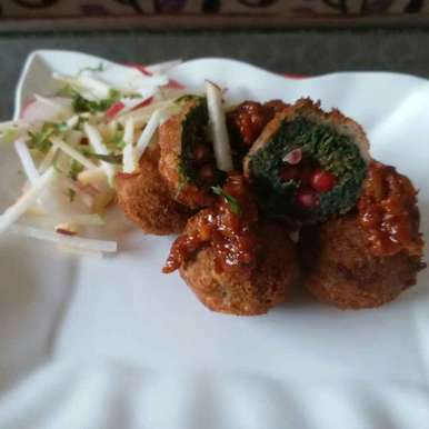 Photo of Spinach Pomegranate Nuggets by Rajni Gupta Anand at BetterButter