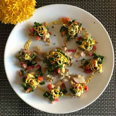 Photo of Multi grain baked nachos with fish salsa by Rajni Gupta Anand at BetterButter