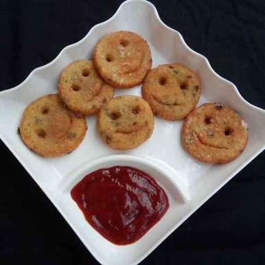 Photo of Suji Potato Smiley by Rakesh prajapati's kitchen at BetterButter
