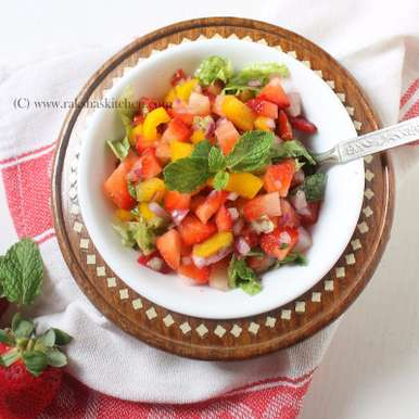 Photo of Strawberry Salsa by Raksha Kamat at BetterButter