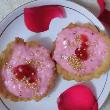 Photo of Rose Coconut Flavoured Custard Tarts by Rathy V at BetterButter
