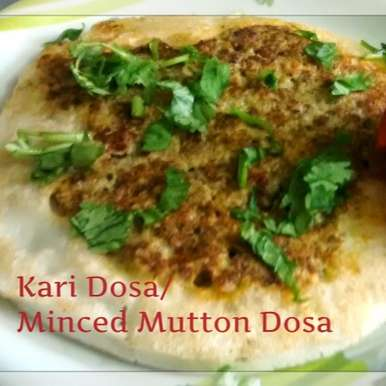 Photo of Madurai Kari Dosa/Minced Mutton Dosa by Rathy V at BetterButter