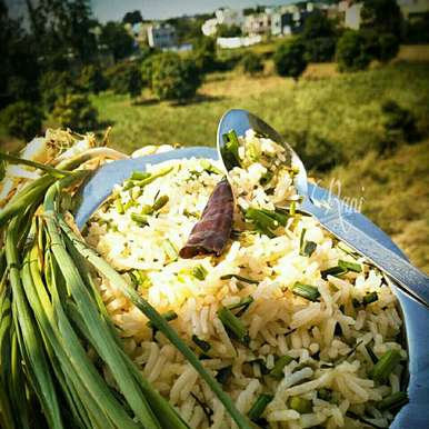 Photo of Green Garlic Rice by Rani Soni at BetterButter