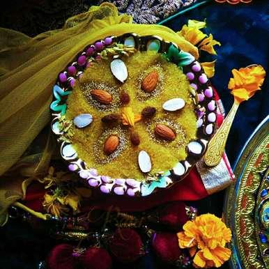 Kesar sooji halwa recipe in Gujarati, કેસર સૂજી હલવા, Rani Soni