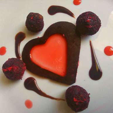 Photo of Beet Ladoo With Straberry And Chocolate Syrup by Rani Soni at BetterButter