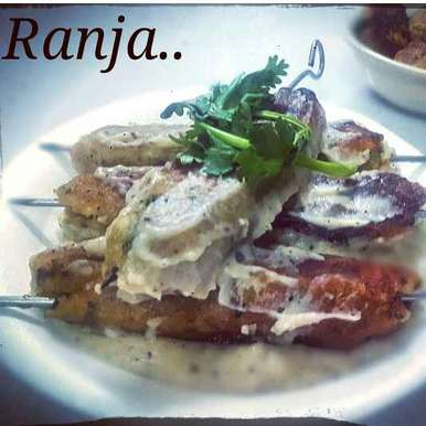 Photo of Paneer Seekh kebabs... Dipped In White Sauce by Ranja Mukherjee at BetterButter