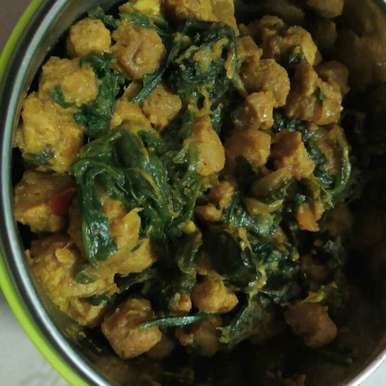 Soya Palak, How to make Soya Palak