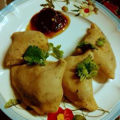 Baked Samosa With Whole Wheat Flour