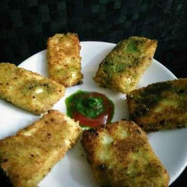 Photo of Green chutney paneer nuggets by Reena Andavarapu at BetterButter