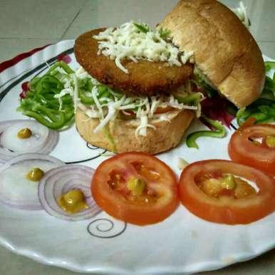 Photo of Burger aalu tikki by Renu Maurya at BetterButter