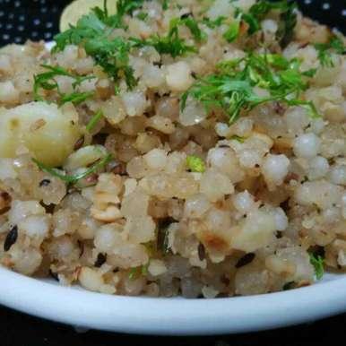Stir fry sabudana khichdi recipe in Hindi,स्टिर फ्राई साबूदाना खिचड़ी, Renu Maurya