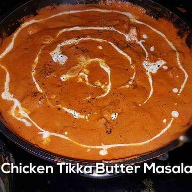 Photo of Chicken Tikka Butter Masala ( butter Fried Chicken in thick red gravy) by Rickta Dutta at BetterButter