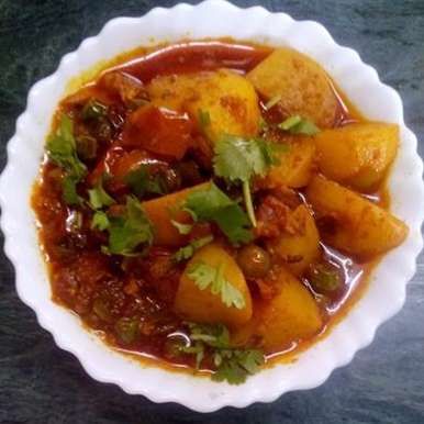 Photo of Aloo Matar by Ridhima Mohil at BetterButter