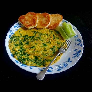 Photo of palak omelette by MOUMITA DAS at BetterButter