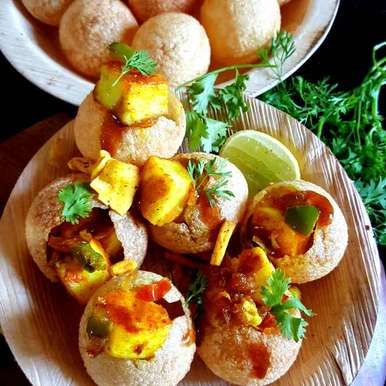 Photo of TAWA PANEER CHAAT WITH GOLGAPPA by MOUMITA DAS at BetterButter