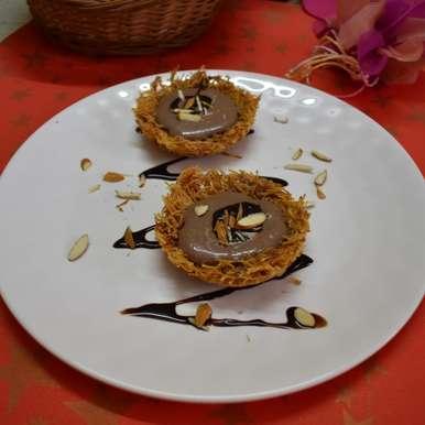 Photo of Chocolate Shrikhand Basket by Ritu Gupta at BetterButter