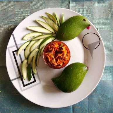 Instant mango pickle recipe in Telugu,మామిడికాయ మెంతి ముక్కలు, Sree Vaishnavi