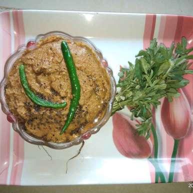 Tender tamarind fenugreek chutney  recipe in Telugu,చింతకాయ మెంతికూర పచ్చడి, Sree Vaishnavi
