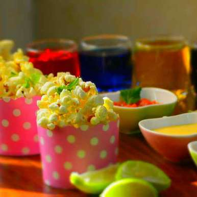 Photo of Spicy popcorn with fresh salsa and Queso dip by Roop Parashar at BetterButter