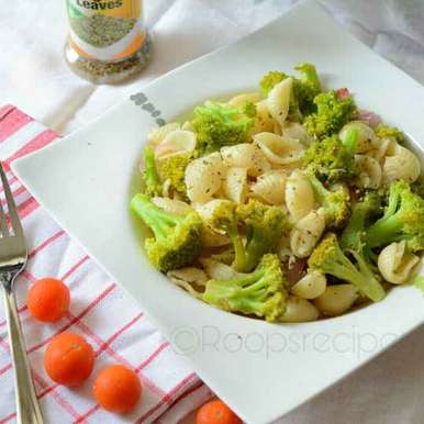 Photo of Shell pasta with broccoli by Roop Parashar at BetterButter