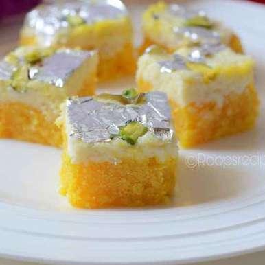 Photo of Layered lentil saffron sweet by Roop Parashar at BetterButter