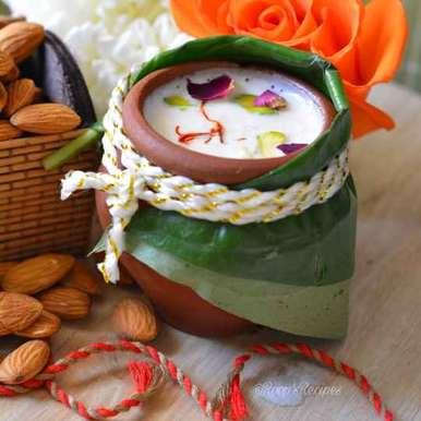 Photo of Saffron Almonds Flavoured Milk by Roop Parashar at BetterButter