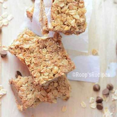 Photo of Chocolaty peanut oatmeal bars by Roop Parashar at BetterButter