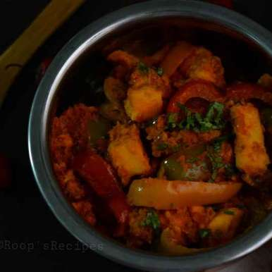 Photo of Shimla mirch paneer by Roop Parashar at BetterButter