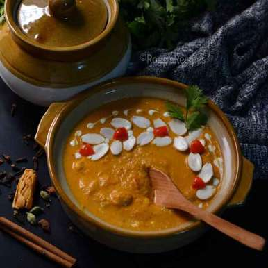 Photo of Mughlai badam curry by Roop Parashar at BetterButter