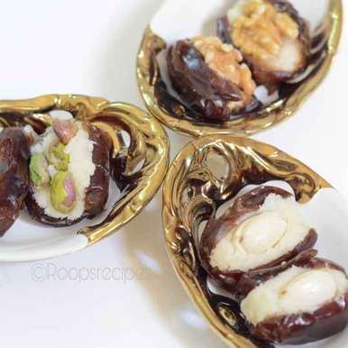 Photo of Stuffed Medjool dates by Roop Parashar at BetterButter
