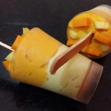 Photo of Sweet and Tangy Mango Ice-Cream by Roshni Subudhi at BetterButter