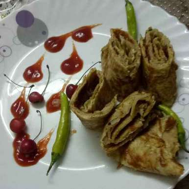 Photo of Mushroom masala  Omelette Roll by Ruchi Chopra at BetterButter