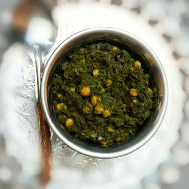 Photo of Chole Palak/Chickpeas with Spinach by Ruchi sharma at BetterButter
