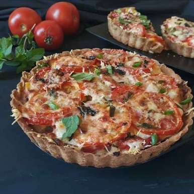 Photo of Tomato Pie(whole wheat crust) by Ruchi sharma at BetterButter