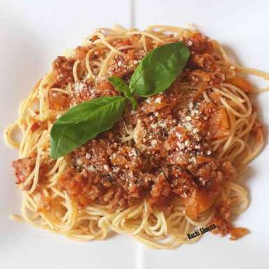Photo of Vegetarian Bolognese Spaghetti by Ruchi sharma at BetterButter