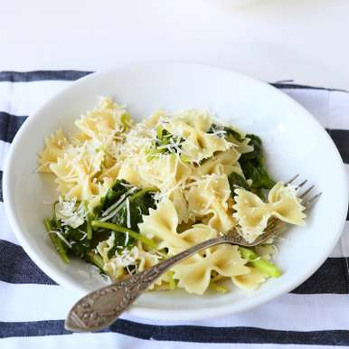 Photo of Spinach and cheese pasta by Ruchira Hoon at BetterButter