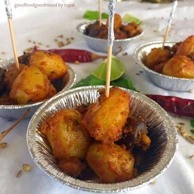 Photo of Tandoori Potatoes in microwave by Rupal Patel at BetterButter