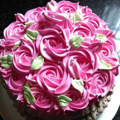 Photo of Rosette Vanilla Cake by Saba Naseem at BetterButter