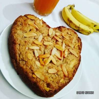 Photo of Eggless Whole Wheat Banana Cake by Saba Rehman at BetterButter