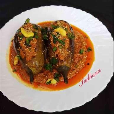 Keema bahari eggplant/ brinjal recipe in Bengali,কিমা বাহারী বেগুন, Sadhana Dey