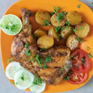 Photo of Curry leaves Chicken tikka with roasted Baby Potatoes by Saima Nawaz at BetterButter