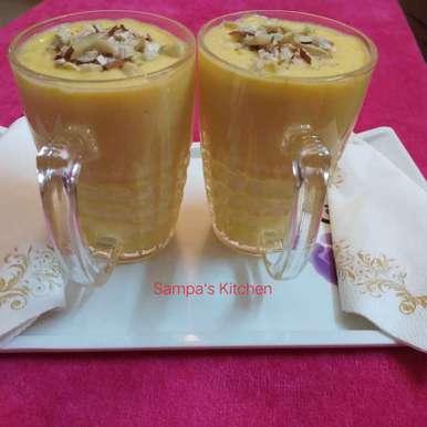 Photo of Mango milk shake by sampa sardar at BetterButter