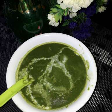 Photo of Palak cream soup by sana Tungekar at BetterButter